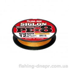 Шнур Sunline Siglon PE х8 150m (оранж.) #0.3/0.094mm5lb/2.1kg