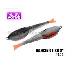 """Поролоновая рыбка 101 Dancing Fish 4""""  (уп.5шт)"""