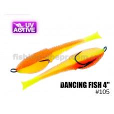 """Поролоновая рыбка 105 Dancing Fish 4""""  (уп.5шт)"""