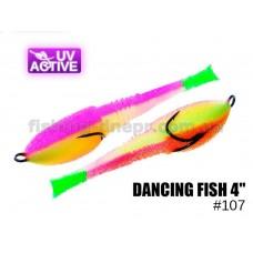 """Поролоновая рыбка 107 Dancing Fish 4""""  (уп.5шт)"""