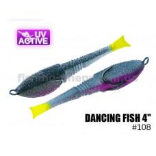 """Поролоновая рыбка 108 Dancing Fish 4"""" (уп.5шт)"""