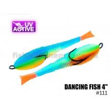 """Поролоновая рыбка 111 Dancing Fish 4""""  (уп.5шт)"""