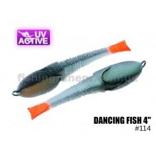 """Поролоновая рыбка 114 Dancing Fish 4""""  (уп.5шт)"""