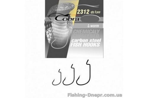2312NSB-002 Гачок-офсет Cobra L-WORM (сер.2312/002) *3